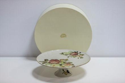 Slika Stalak za tortu porculan 32x32 cm