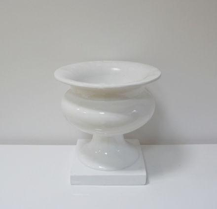 Slika Bijela dekorativna vaza 42 cm