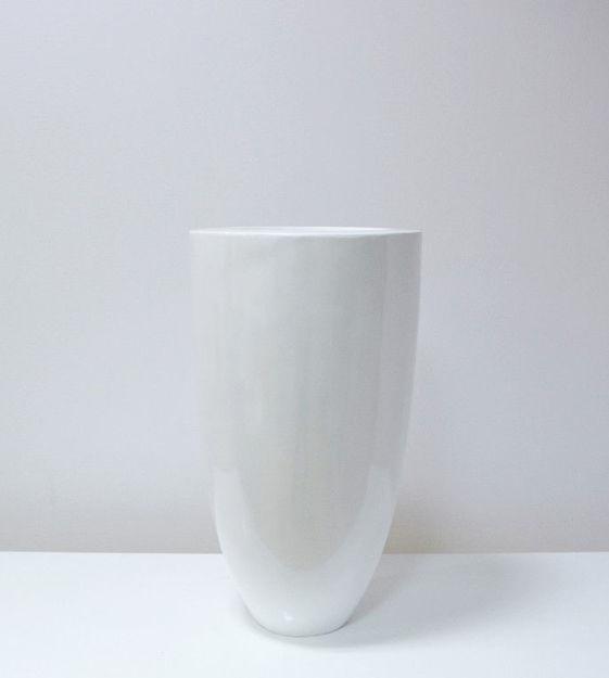 Slika Bijela dekorativna vaza 64 cm