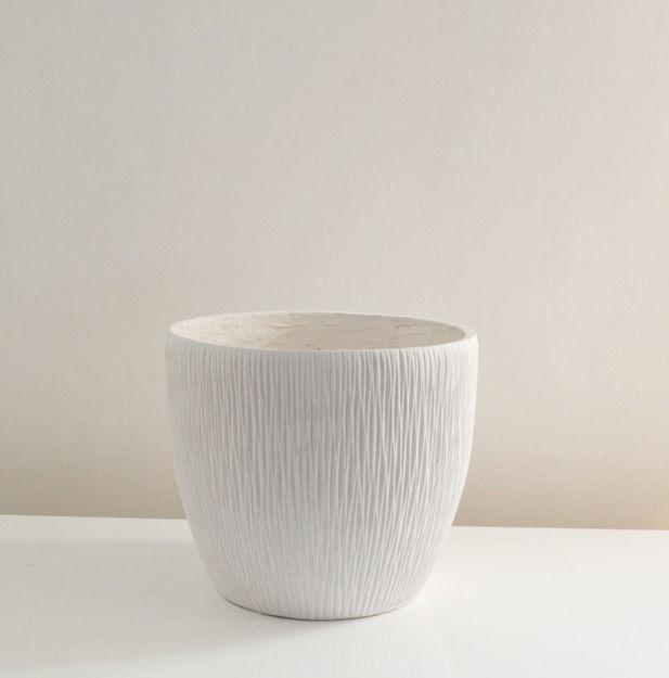 Slika Bijela dekorativna vaza 30 cm