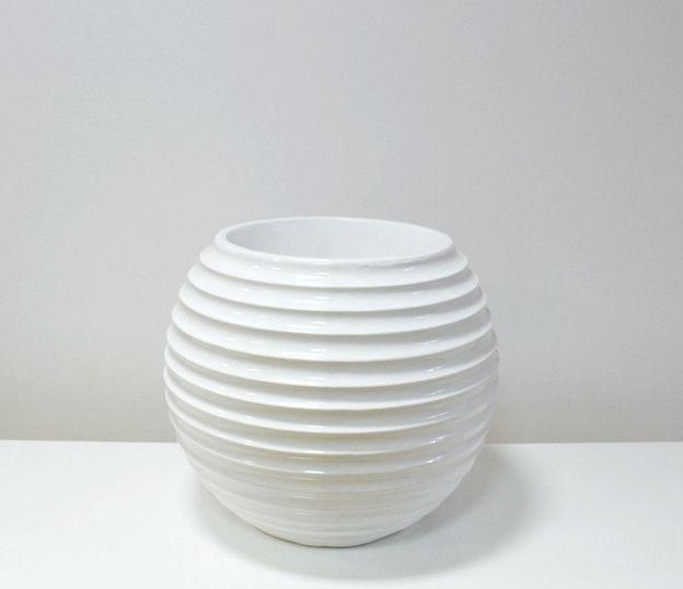 Slika Bijela velika dekorativna vaza 43 cm