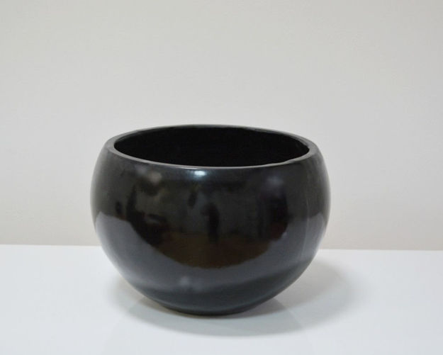Slika Crna velika dekorativna vaza 33,5 cm