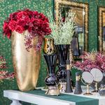 Slika Zlatna dekorativna vaza 64 cm