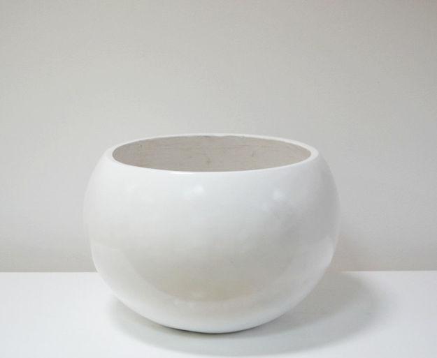 Slika Bijela velika dekorativna vaza 34 cm