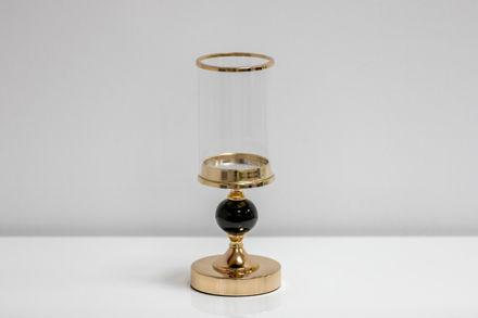 Slika Svijećnjak metal/staklo 30 cm