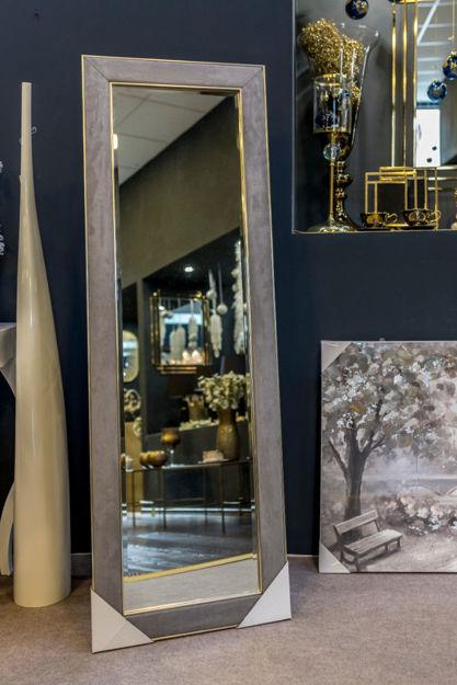 Slika Podno ogledalo sa luksuznim  dekorativnim okvirom 50,8 cm x 152, 4 cm
