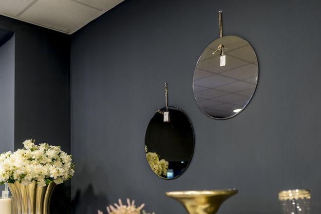 Slika Minimalističko zidno ogledalo 50 cm