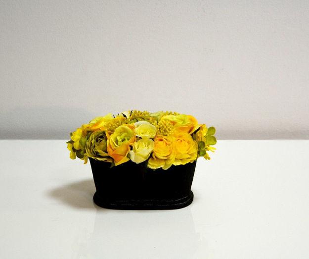 Slika Žuto dekorativno cvijeće u posudi 14 cm