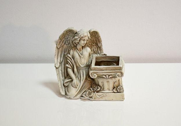 Slika Dekorativna posuda s anđelom 21 cm