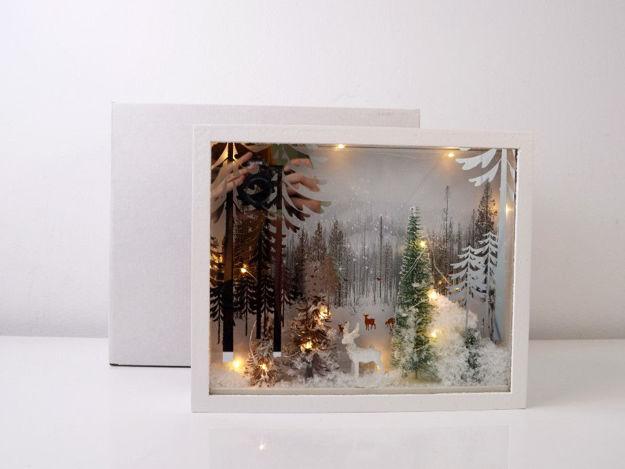 Slika Božićna glazbena dekoracija sa rasvjetom, 30 cm