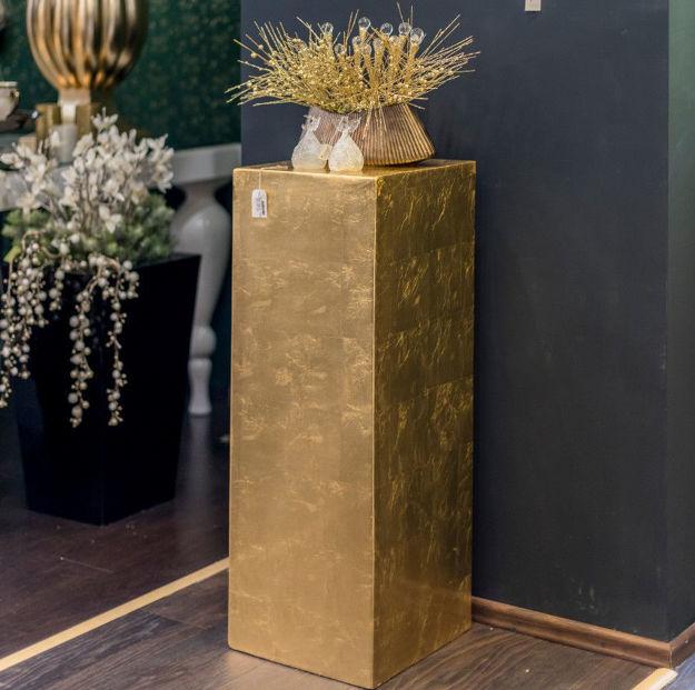 Slika Zlatni dekorativni postament  91 cm