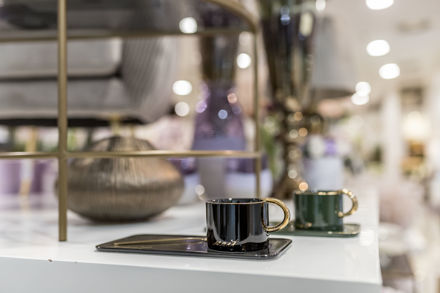 Slika Šalica s tanjurićem porculan 8x6 cm