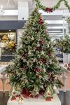 Slika Božićno drvce sa snijegom i ukrasima 210 cm