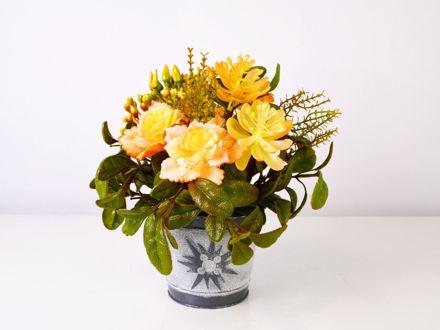Slika Dekorativno cvijeće u posudi, 24 cm
