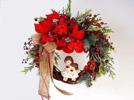 Slika Božićni vijenac za vrata 40 cm x 35 cm