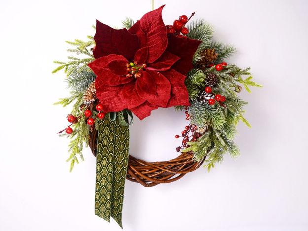 Slika Božićni vijenac za vrata 35 cm x 35 cm