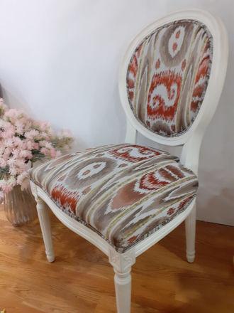 Slika Stolica drvo tkanina 54x56x97 cm