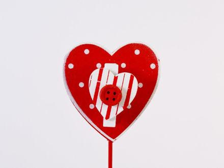 Slika Srce na piku drvo 26 cm