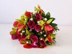 Slika Buket ruža/orhideja 42 cm