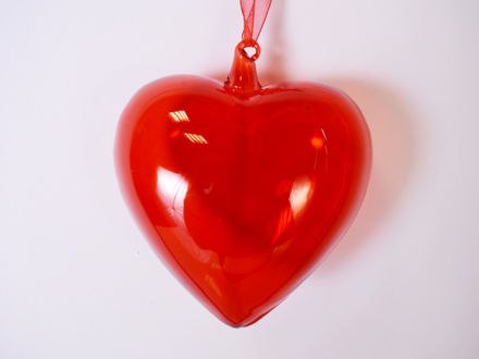 Slika Srce staklo 10 cm