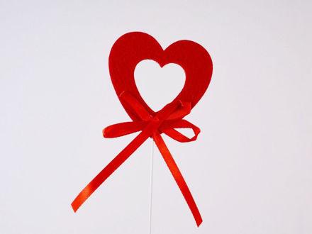 Slika Srce na piku S/6 tkanina 30 cm