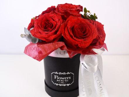 Flower box S - crvene ruže 01