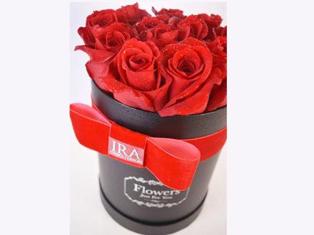 Flower box M - crvene ruže 01