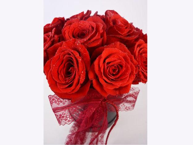 Slika Flower box M - crvene ruže