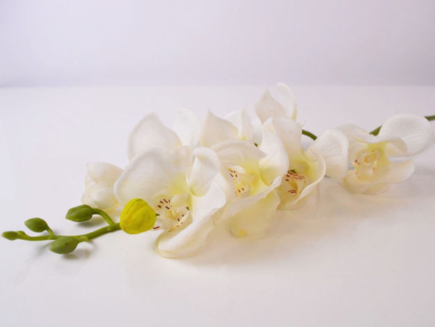 Umjetna bijela orhideja 78 cm