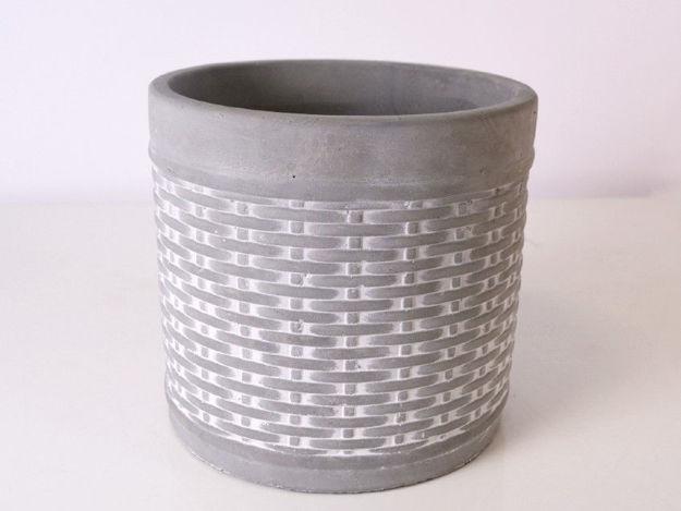 Slika Posuda za aranžman cement 12.5 cm