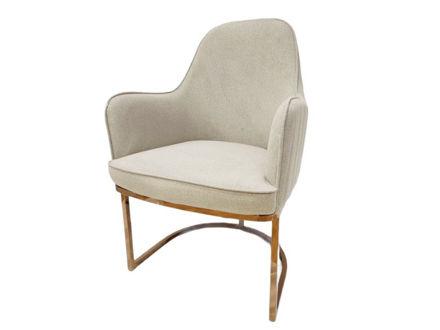 Slika Fotelja tkanina/metal 53 cm x 60 cm x 91cm
