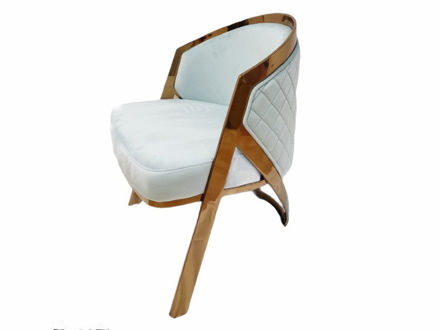 Slika Fotelja baršun/metal 65 cm x 59 cm x 76.5 cm.
