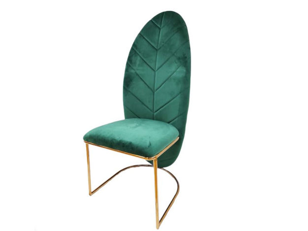 Slika Stolica baršun/metal 55 cm x 73 cm x 120 cm