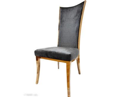 Slika Stolica baršun/metal 51 cm x 68 cm x 117 cm