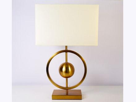Stolna krem/zlatna lampa 02