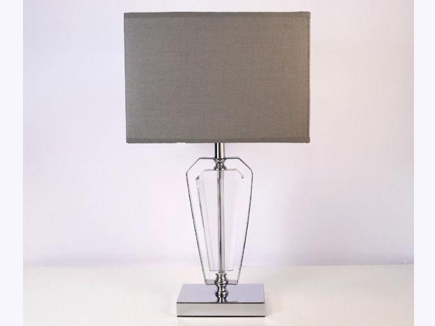 Stolna siva lampa 01