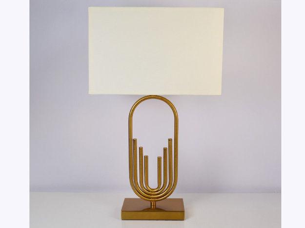 Stolna krem/zlatna lampa 01