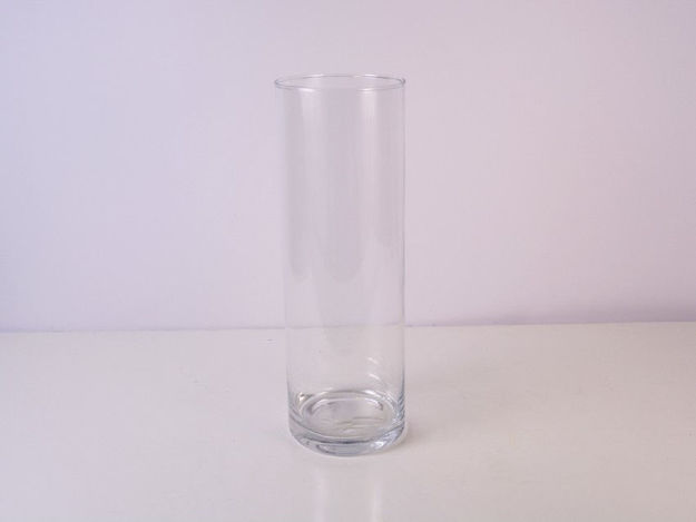 Slika Vaza cilindar staklo 30 cm x 10 cm