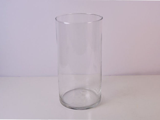 Slika Vaza cilindar staklo 30 cm x 15 cm