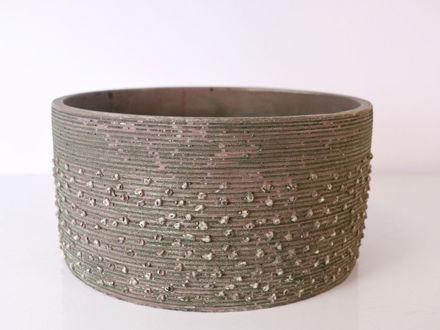 Slika Posuda za aranžman cement 21.5 x 11 cm