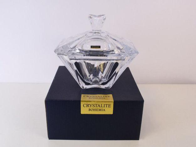 Slika Posuda s poklopcem kristalin  19.5 x 19.5 cm