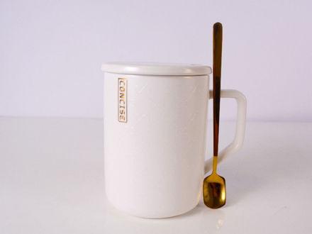 Slika Šalica s poklopcem porculan 380 ml