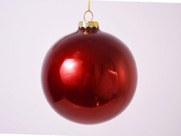 Slika Božićne kuglice staklo 10 cm S/4