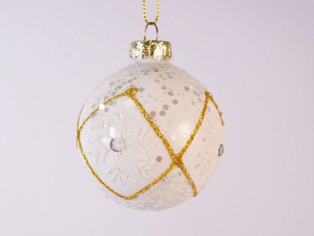 Slika Božićne kuglice staklo 6 cm S/4