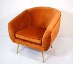 Slika Fotelja baršun/metal 74 x 72 x 78 cm