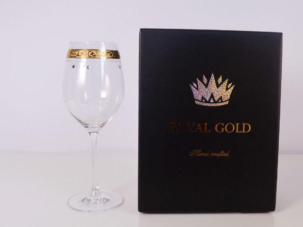 Slika Čaše za vino sa Swarovskim kristalima S/2 staklo 470 ml