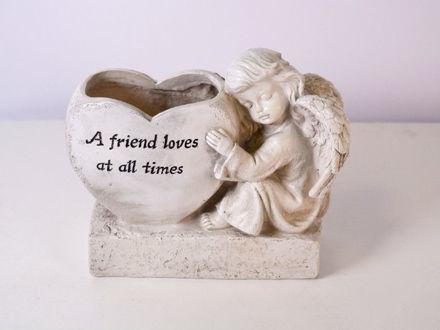 Slika Posuda s anđelom polyresin 20 cm x 9 cm x 16.5 cm